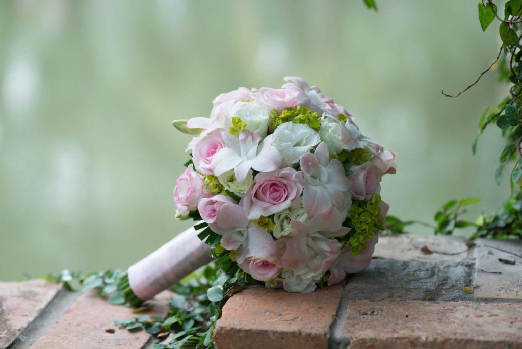 bouquet rose rosa e bianche